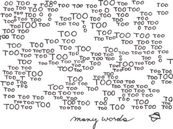 overcommunication too many words
