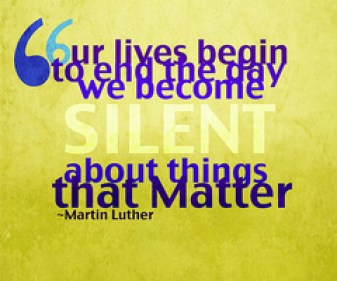 silent about things that matter