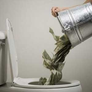 who is getting fired money_down_toilet