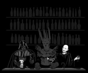Darth out for a drink at local bar