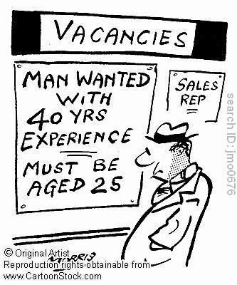 youth unemployment experience but 25