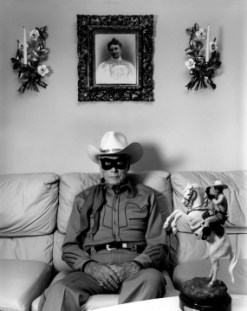 Clayton Moore, the former Lone Ranger, Los Angeles, California,