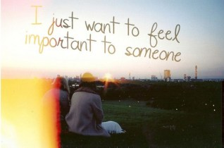 inbetween want to feel important
