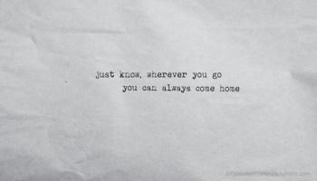 going home wherever