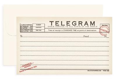 telegram blank