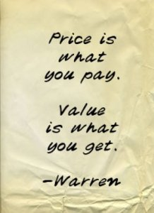 price value warren buffett