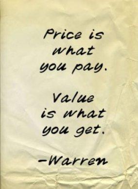 price value warren buffett