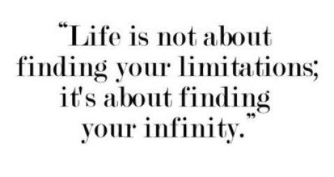 limitations infinity