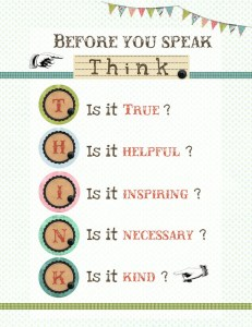 think before you speak list