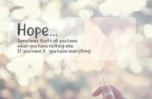 nothing and hope