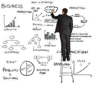management Businessman-writing