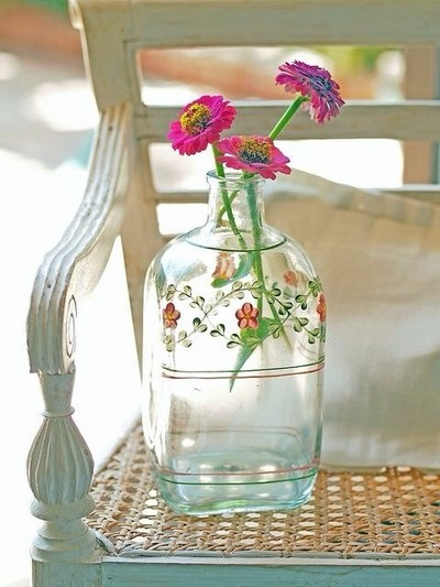 bottled water vase