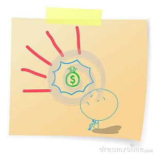 hope to money-bags-sticky dreamstime