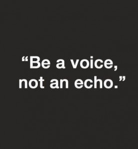 being yourself voice echo