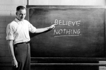 believe nothing chalkboard