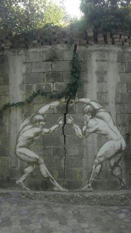 graffiti art men crack