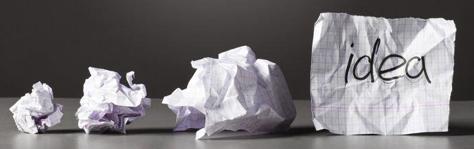ideas Crumpled paper