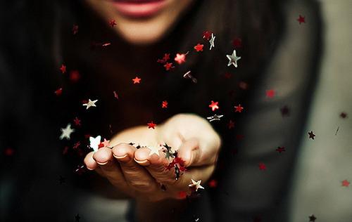 stars blown hands