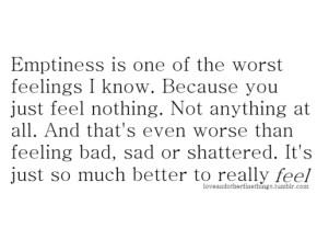 emptiness feel feelings