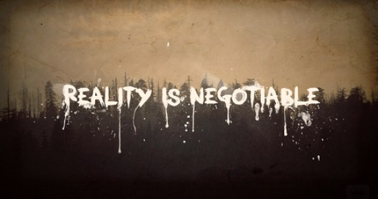 reality is negotiable