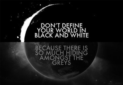 grays black and white
