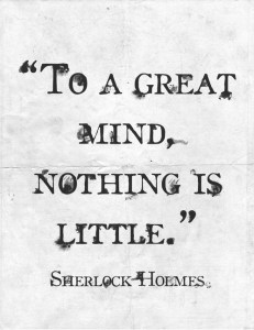 nothing is little holmes