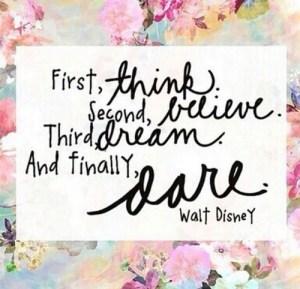 think believe dream