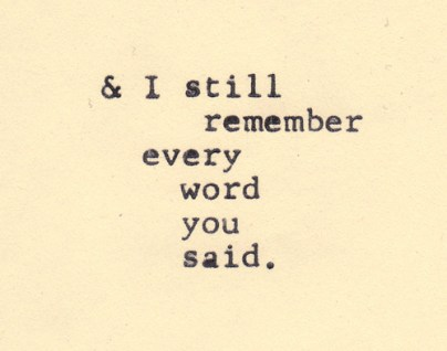 words remember