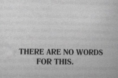 words there are no