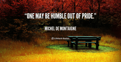 humble pride accountable