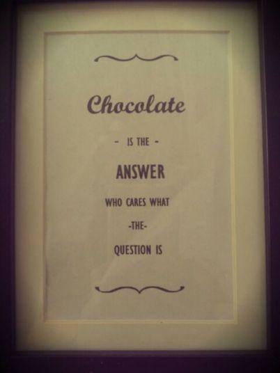 chocolate answer