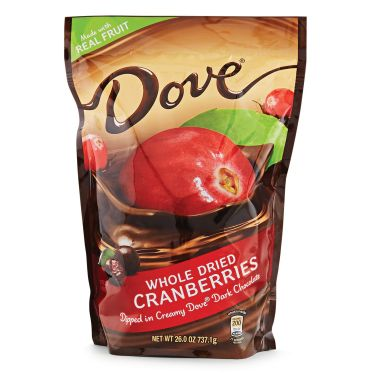 dove chocolate cranberries