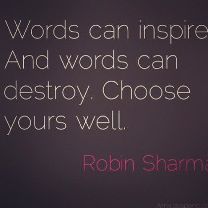 words inspire and destroy