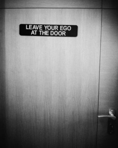 ego at the door