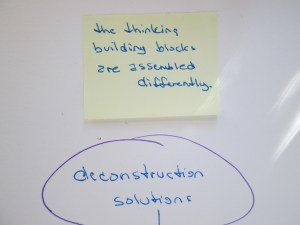 retrain thought building deconstruct