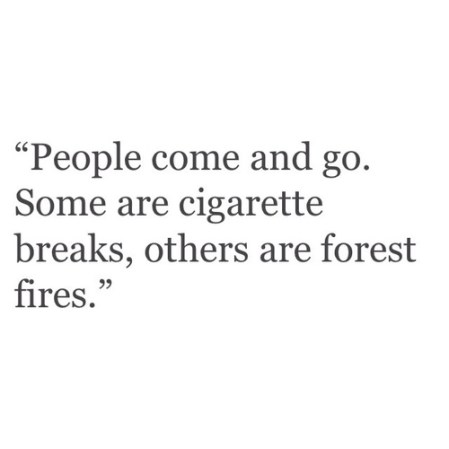 people impact cigarette forest fire