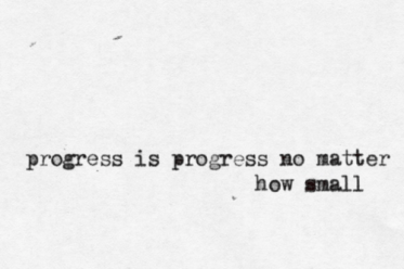 progress is progress