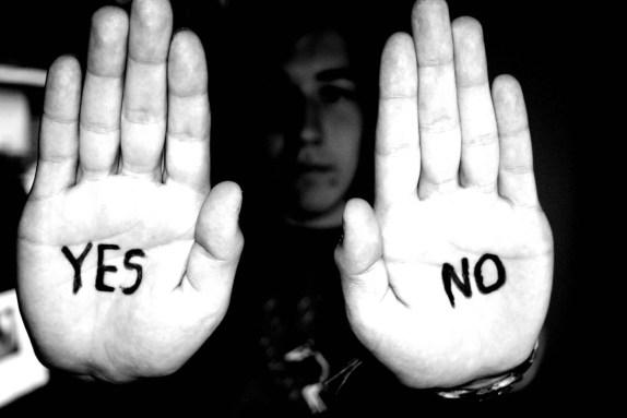 yes no hand statement
