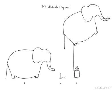 inflate elephant deflate