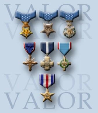 US Military awards for Valor