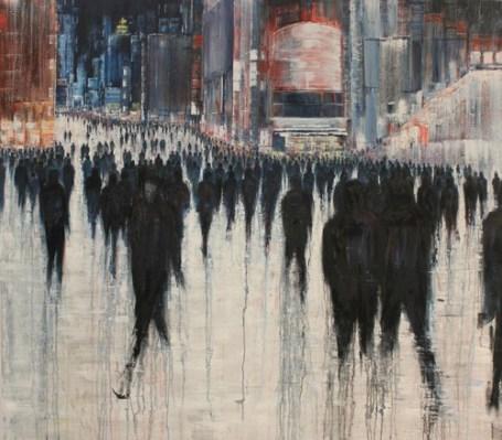 lost in crowd alone indistinct invisible