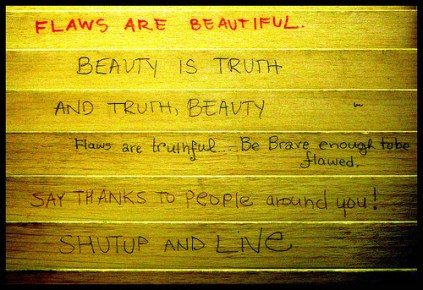 flaws are beautiful