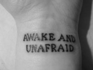 awake and unafraid death