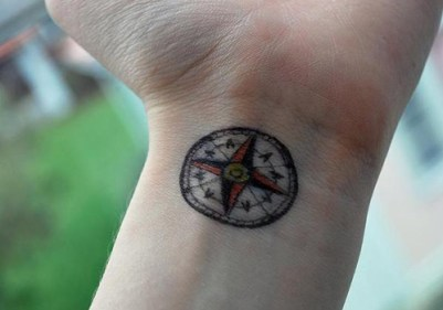 axis truth direction compass tattoo