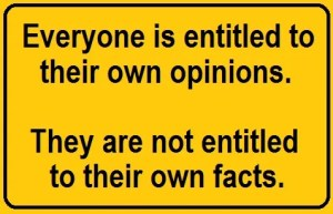 opinions and facts