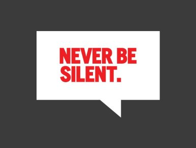 never be silent stand up i will be defined