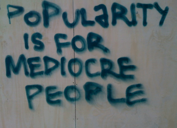 popularity mediocre people