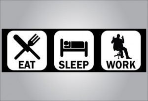 eat sleep work organizational exhaustion