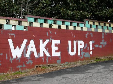 wake up wall