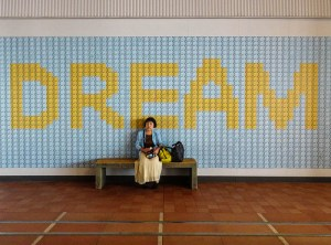 dream wall sitting alone thinking